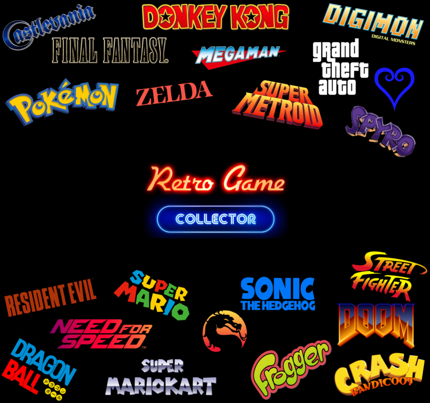 Some retro game classics / logos in one single screen.